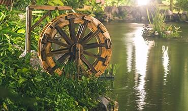 Декоративная водяная мельница своими руками