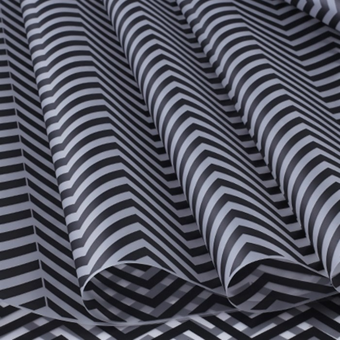 Пленка матовая 700 Зигзаг черный - фото 61866