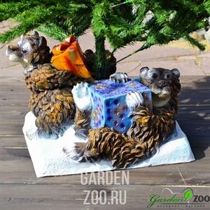 Подставка елочная Медведи с подарками