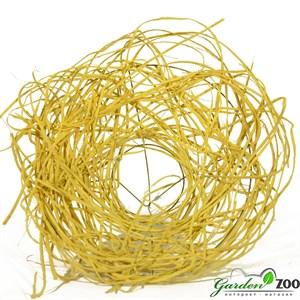 Каркас для букета 25 см ротанг гнездо желтый