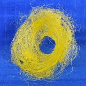 Каркас для букета 25см сизаль гнездо желтый