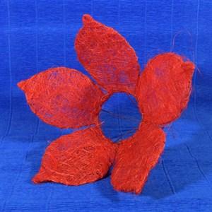 Каркас для букета сизаль цветок 25см красный