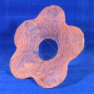 Каркас для букета сизаль цветок Ромашка 25см светло-розовый