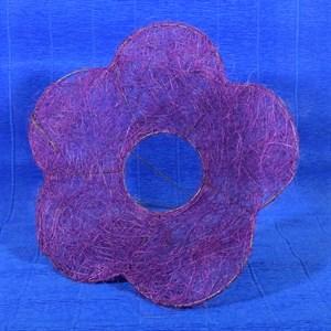 Каркас для букета сизаль цветок Ромашка 25см сиреневый