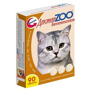 Лакомство ДОКТОР ЗОО для кошек 90т копчености