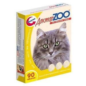 Лакомство ДОКТОР ЗОО для кошек 90т сыр