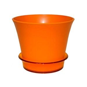 Горшок Лотос 18,7*15,6 оранжевый