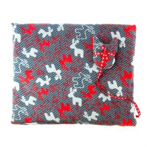 Лежак коврик M прямоугольный с оленями+игрушка 60*50см