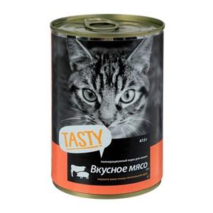 Корм Тэсти для кошек 415г мясное ассорти в соусе ж/б ключ