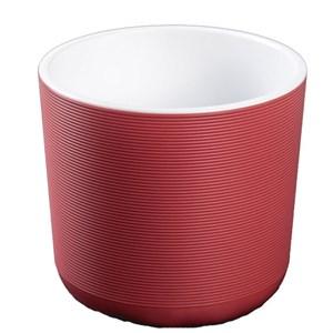 Горшок Лион 2л бордо-белый с вкладышем