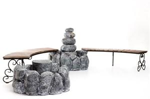 Комплект Валуны с коваными скамейками