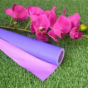 Бумага крафт гладкая 70см двухсторонняя сиреневый/фиолетовый