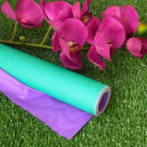Бумага крафт гладкая 70см двухсторонняя зеленый/сиреневый
