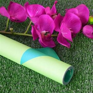 Бумага крафт гладкая 70см двухсторонняя зеленый/светло-салатовый