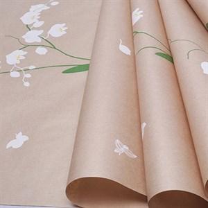 Бумага крафт 40гр 70*10 Орхидея белый