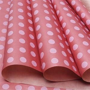 Бумага крафт 40гр 72*10 Круги на розовом