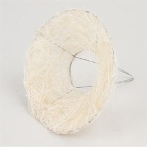 Каркас для букета 15 см сизаль гладкий белый