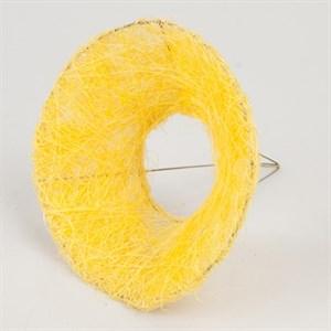 Каркас для букета 15 см сизаль гладкий желтый