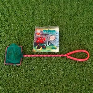Сачок ТРИТОН зеленый с красной ручкой №3 8см