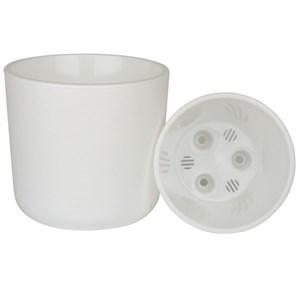 Горшок Лион 2л бело-белый с вкладышем
