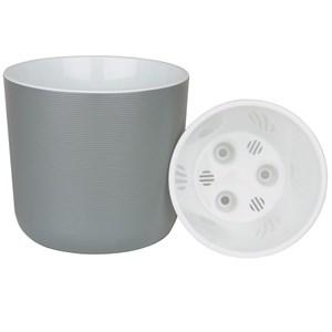 Горшок Лион 5,6л серый муссон с вкладышем