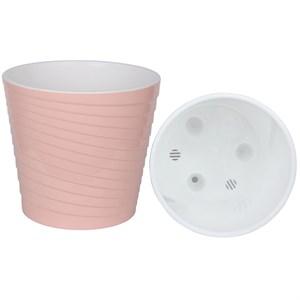 Горшок Эйс 3,8л розовый-белый с вкладышем
