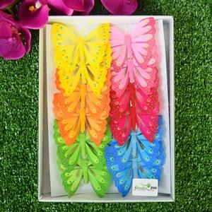Бабочки на прищепке 8см