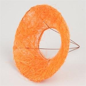Каркас для букета 15 см сизаль гладкий оранжевый