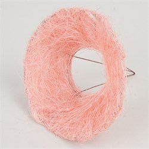 Каркас для букета 15 см сизаль гладкий светло-розовый