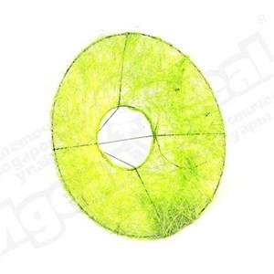 Каркас для букета 25 см сизаль гладкий зеленое яблоко