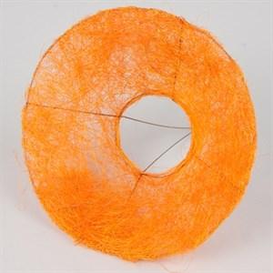 Каркас для букета 25 см сизаль гладкий оранжевый
