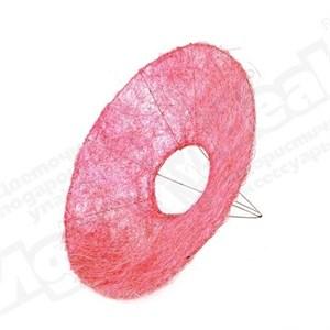 Каркас для букета 25 см сизаль гладкий розовый
