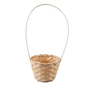 Корзина плетеная бамбук 13*9,5 28см натуральный