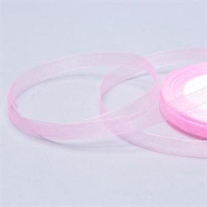 Лента Органза 10мм*30м розовая
