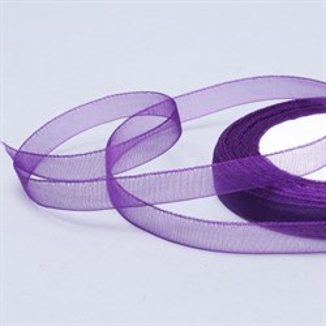 Лента Органза 15мм*30 м фиолетовая