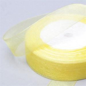 Лента Органза 25мм*30м лимонная