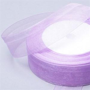 Лента Органза 25мм*30м светло-сиреневая