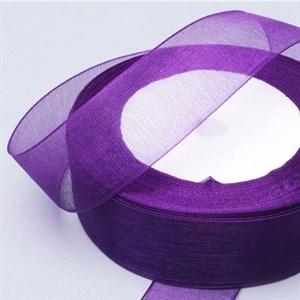 Лента Органза 25мм*30м фиолетовая