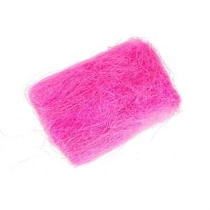 Сизалевое волокно 40гр ярко-розовый