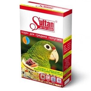 Корм СУЛТАН для попугаев средн. 400г (овощи+фрукты) (14)
