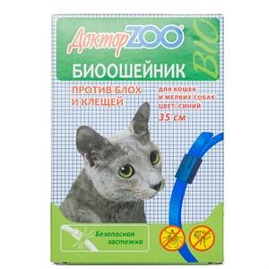 БИОошейник ДОКТОР ЗОО  от блох для кошек и собак синий