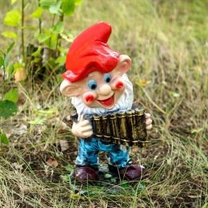 Фигура Гном с флейтой