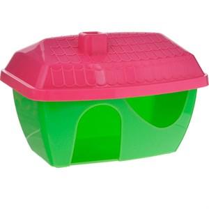 Домик ГРИЗЛИ для грызунов пластмассовый цветной