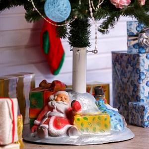 Подставка под елку Дед Мороз и снеговик