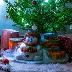 Подставка елочная со Снеговиком