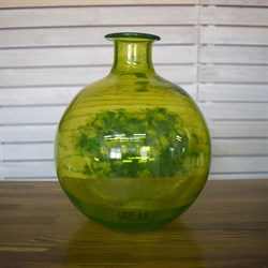 Ваза бутылка 1806 фисташковая