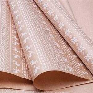 Бумага крафт 70*10 Орнамент белый