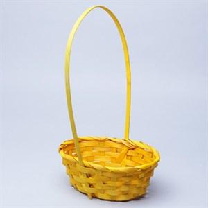 Корзина плетеная бамбук 20*16*9см желтый