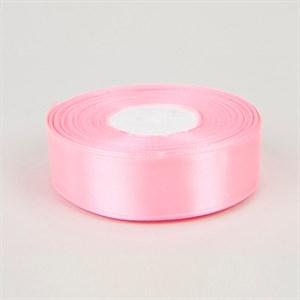 Лента атлас 25мм х 30 м розовая