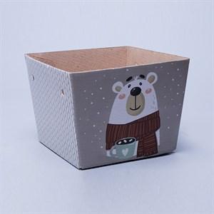 Плайм пакет для цветов 110*150/125 Белый медведь